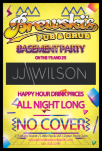 Club Night w/ JJ Wilson @ Brewski's Pub & Grub