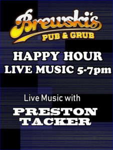 LIVE MUSIC Preston Tacker @ Brewski's Pub & Grub