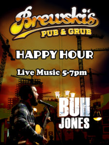 LIVE MUSIC Buh Jones @ Brewski's Pub & Grub