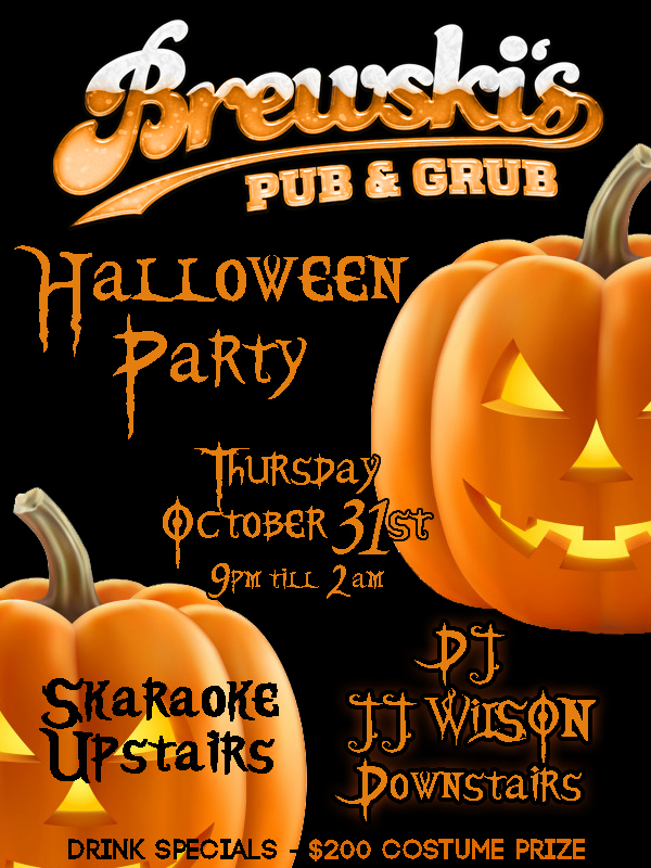 HALLOWEEN PARTY @ Brewski's Pub & Grub