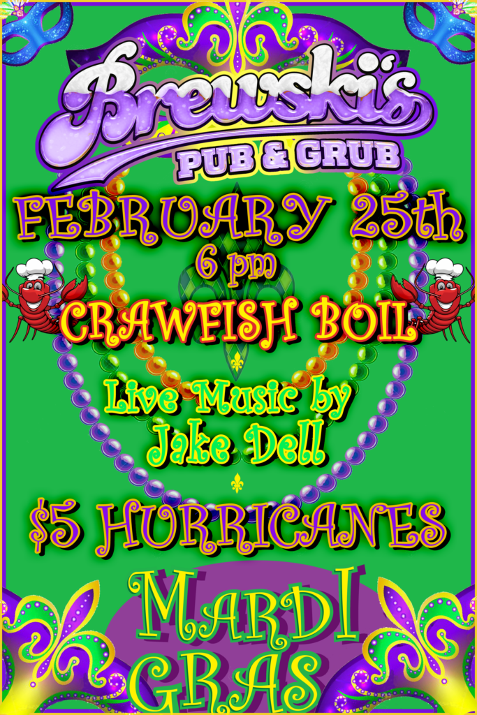 Fat Tuesday Crawfish Boil @ Brewski's Pub & Grub