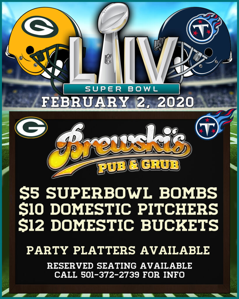 SUPER BOWL PARTY @ Brewski's Pub & Grub
